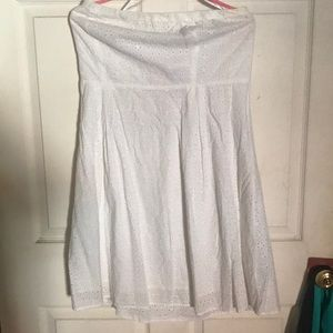 Oh navy strapless size 14 white dress